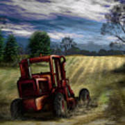 Abandoned Tractor Print by Ron Grafe