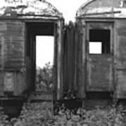 Abandoned Train Cars B Art Print