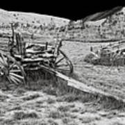 Abandoned Wagons Of Bannack Montana Ghost Town Art Print by Daniel Hagerman