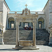 Abbey Of Montecassino Courtyard Art Print