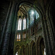Abbey With Heavenly Light Art Print