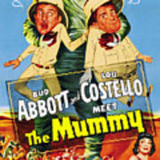 Abbott And Costello Meet The Mummy Aka Art Print
