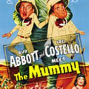 Abbott And Costello Meet The Mummy Aka Print by Everett