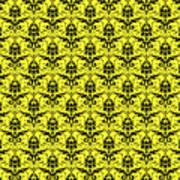 Abby Damask In Black Pattern 05-p0113 Art Print