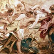 Abduction Of Hippodamia Art Print
