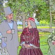 Abe Talks To The Ladies Art Print