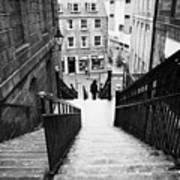 Aberdeen Union Street Back Wynd Stairs Scotland Uk Art Print