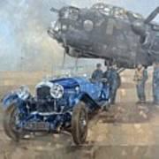 Able Mable And The Blue Lagonda  Art Print
