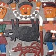 Aboriginal Painted Wall Decoration Art Print