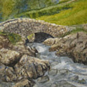 Above Ashness Bridge Art Print