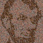 Abraham Lincoln Penny Mosaic Art Print by Paul Van Scott