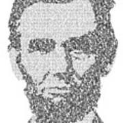 Abraham Lincoln Typography Art Print