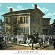 Abraham Lincoln's Return Home Art Print