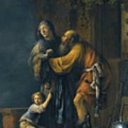 Abraham Pleading With Sarah On Behalf Of Hagar Art Print