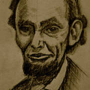 Abraham's Lincoln. Art Print