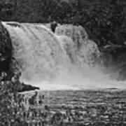 Abrams Falls Cades Cove Tn Black And White Art Print
