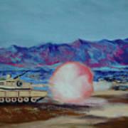 Abrams Firing Art Print