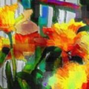 Absinthe Daffies Art Print