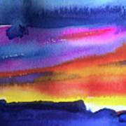 Joan's Sunset Art Print