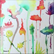 Blob Flowers Art Print