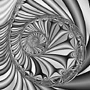 Abstract 527 Bw Art Print