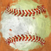 Abstract Baseball Art Print