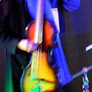 Abstract Bass Player. Art Print