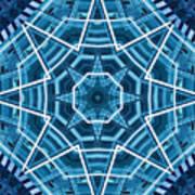 Abstract Blue 19 Art Print
