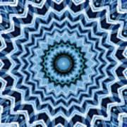 Abstract Blue 25 Art Print