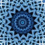 Abstract Blue 30 Art Print
