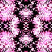 Pink And Black Design  Art Print