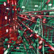 Red Berlin Sound Art Print