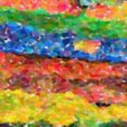 Abstract Color Combination Series - No 8 Art Print
