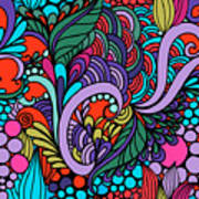 Abstract Colorful Floral Design Art Print