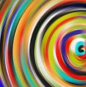 abstract Colurfull Rings Art Print