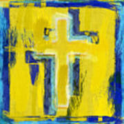 Abstract Crosses Art Print