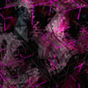Abstract Crystal - Cg Render Art Print