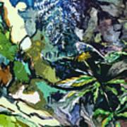 Abstract Dandelion Art Print