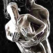 Abstract Digital Artwork Of A Couple Making Love Art Print by Oleksiy Maksymenko