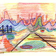 Abstract Drawing Five Art Print