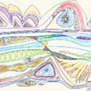 Abstract Drawing Seventeen Art Print