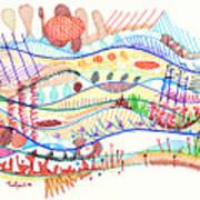 Abstract Drawing Three Art Print