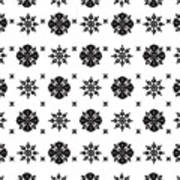 Abstract Ethnic Seamless Floral Pattern Design Art Print