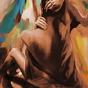 Abstract Female Back  Art Print