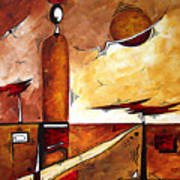 Abstract Figurative Art African Flame By Madart Art Print