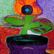 Abstract Floral Art 114 Art Print