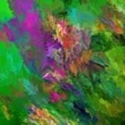 Abstract Floral Fantasy 071912 Art Print