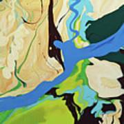 Abstract Flow Green-blue Series No.2 Art Print