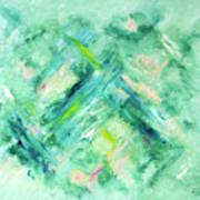 Abstract Green Blue Art Print