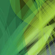Abstract Green Vector Background Banner, Transparent Wave Lines  Art Print